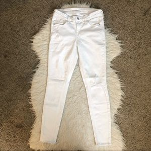 🔴Old Navy mid rise rockstar skinny jeans white